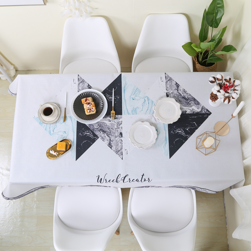 Coffee Table Cover Modern Decorative Table Cloth Stain