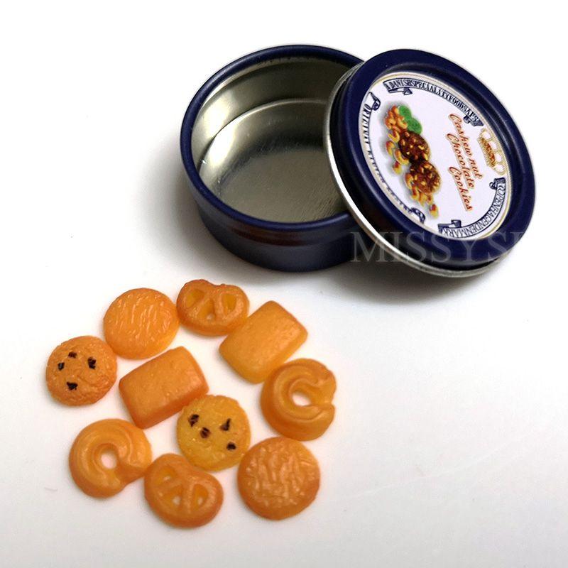 5 Pcs 1:12 Dollhouse miniature honey pot sugar can LE