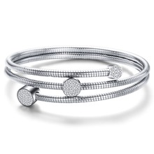 купить New Arrival Fashion Wrap Jewelry Bracelet for Women High Quality Stainless steel Charm Beaded Bracelets Bangles With Crystals дешево