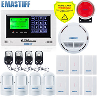 NEW Touch Android App 850 900 1800 1900MHz Gsm SMS SIM Alarm System Simple Menu Display