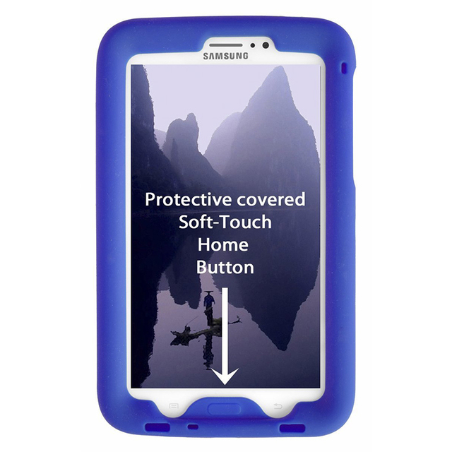 MingShore Silicone Case For Samsung Galaxy Tab 3 7.0 SM-T217 Rugged Cover For Galaxy Tab 3 7.0inch SM-T211 SM-T210 Tablet Case