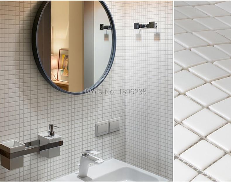 Bagno Doccia Mosaico : Bianco cristallo di vetro mosaico piastrelle piastrelle cucina