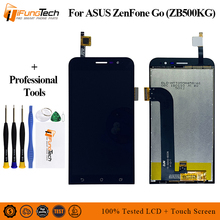 Tested LCD For Asus ZB500KG LCD Display Matrix Panel Touch Screen For Asus Zenfone Go Lite ZB500KG Digitizer Assembly with Tools asus zenfone go zb500kg 8gb red