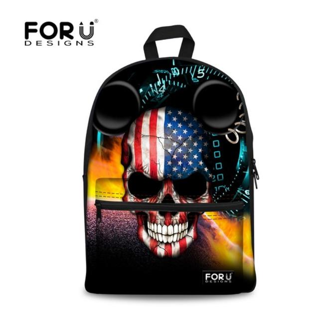 Designer Cool Boys Skull Backpack Brand Children Kids School ...