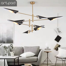 Post Modern Chandelier Lamp Restaurant Bedroom Indoor Illuminate LED Adjustable Black Living Room Light Lighting