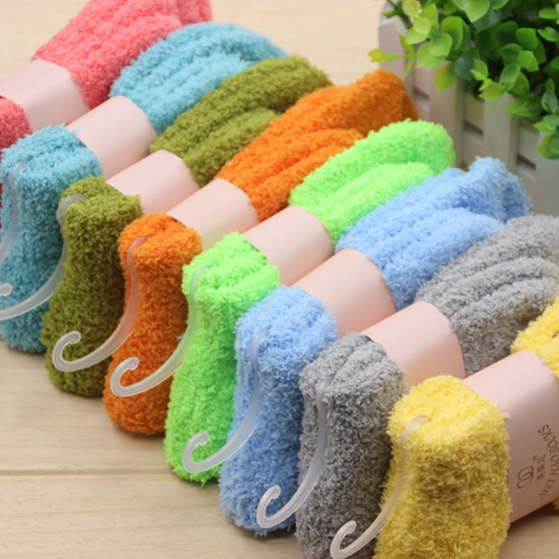 Thick Fluffy Solid Color Ankle Women Soft Fuzzy Socks(China (Mainland)) - Popular Womens Fuzzy Socks-Buy Cheap Womens Fuzzy Socks Lots From