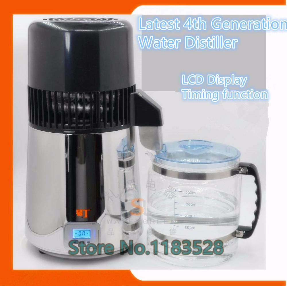 2016 Latest CE Certificate 4th Generation LCD Display household water distiller electric stainless steel home water distiller household water distiller electric stainless steel water distiller home and dental water distiller dental clinic dentist medical