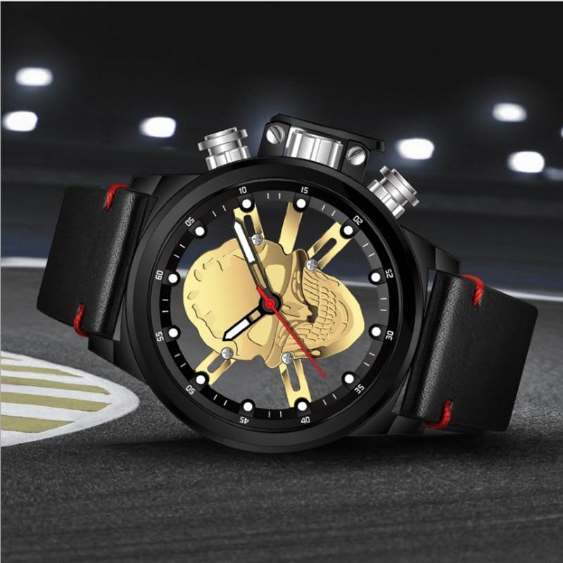 Skull skeleton watch men sport mens relojes top brand luxury 2018 - Relojes para hombres - foto 1