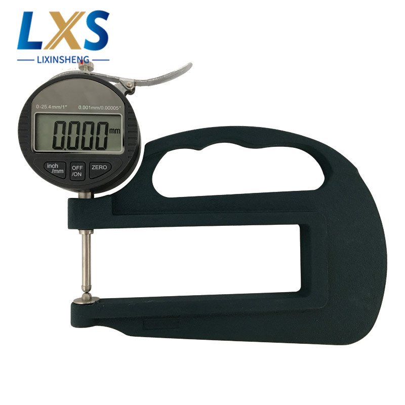 0-25mm Stainless Steel Probe Digital Display Micrometer Thickness Gauge BY06 For Paint