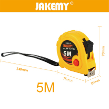 JAKEMY 1pc 3m/5m Measuring Tape Steel Tape Multitool Ruler Steel Measure Tape Metric Woodworking Hand Measure Tools steel tape 5 m self locking steel tape 3 m small ruler carpentry foot small mini tape measure