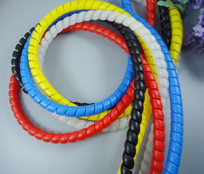 Купить на aliexpress 2 м/лот  огнезащитных спиральные утолщения диаметр 10 мм кабель-каналы кабель рукава обмотка труб