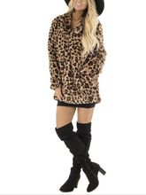 2019 Faux Fur Coat for Women Coats Winter Warm Fashion Leopard Artificial Luxury Womens Jacket Jackets fashion comfortbale