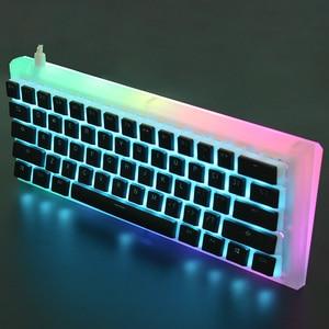Image 4 - YMDK 108 PBT Double Shot Shine Through ANSI ISO OEM Profile Pudding Keyset For MX Mechanical Keyboard