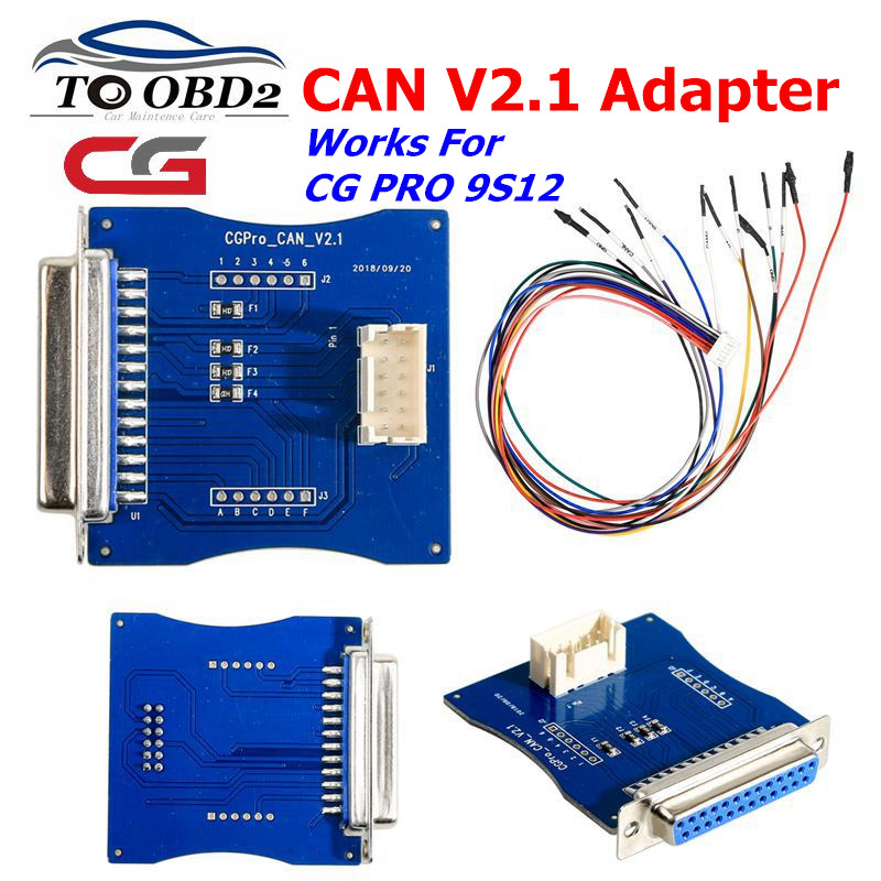 CG Pro 9S12 Key Programmer CAN V2 1 adapter Support for the following engine computer repair