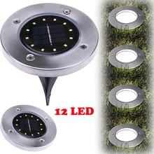 12-светодиодный светильник на солнечной энергии под наземным фонарем, открытый путь, садовый настил, лампа для освещения газона grondspot