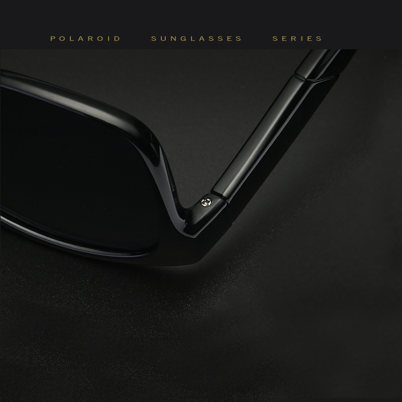 Cavero Brand Classic Polarized Sunglasses Men Driving Square Zwart - Kledingaccessoires - Foto 4