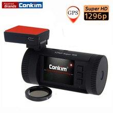 Conkim Car Dash Camera DVR Ambarella A7LA50 Super HD1296P Car DVR GPS Dash Cam Auto Video Recorder Mini 0826 CPL