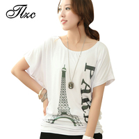 Korean Style Woman Fashion T Shirts Plus Size L 4XL Good Quality O Neck Letter Printed