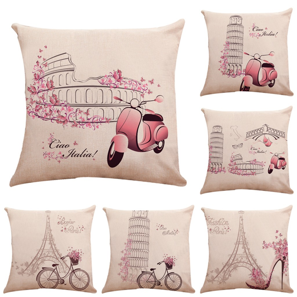 Home & Garden Pillowcases Christmas Square Throw Flax Pillow Case Decorative Cushion Cover Kussenhoes Housse De Coussin Cojines Funda Cojin Home Textile