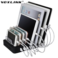 VOXLINK Universal EU/US/AU/UK/PSE Plug 8 Port Micro USB Power Charger Holder HUB For Samsung For iPhone For Xiaomi Mobile Phone