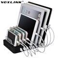 Voxlink universal ue/eua/au/uk/pse plug 8 port micro usb carregador de energia hub titular para samsung para o iphone para xiaomi telefone móvel