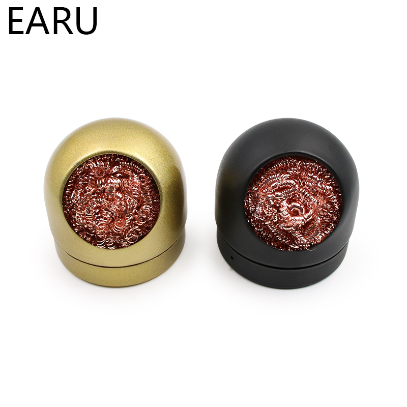 Metal Wire With Stand Set Welding Desoldering Soldering Solder Iron Tip Dross Cleaner Cleaning Steel Ball Mesh Filter Tin Remove
