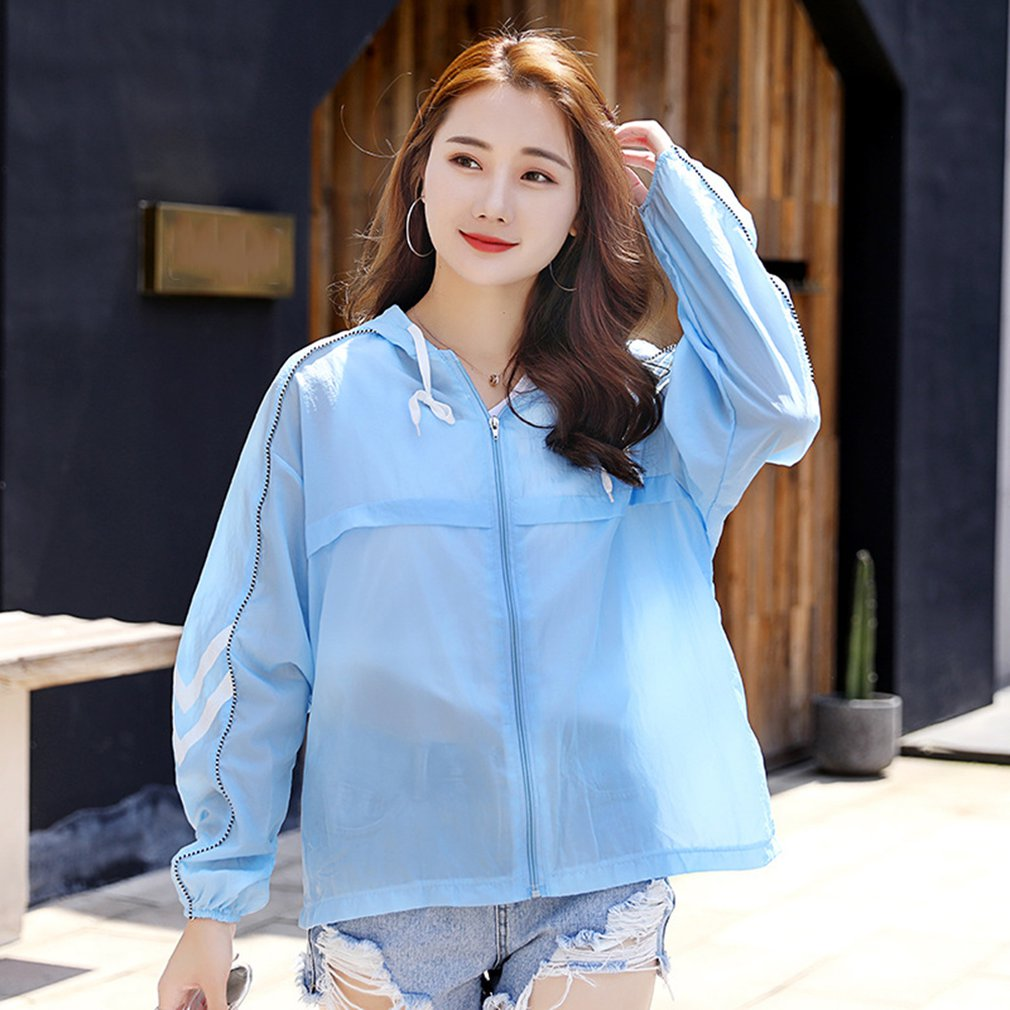 c296012901390 Best Offer] Casual Outdoor Beach Holiday Anti UV Women Long Sleeve ...