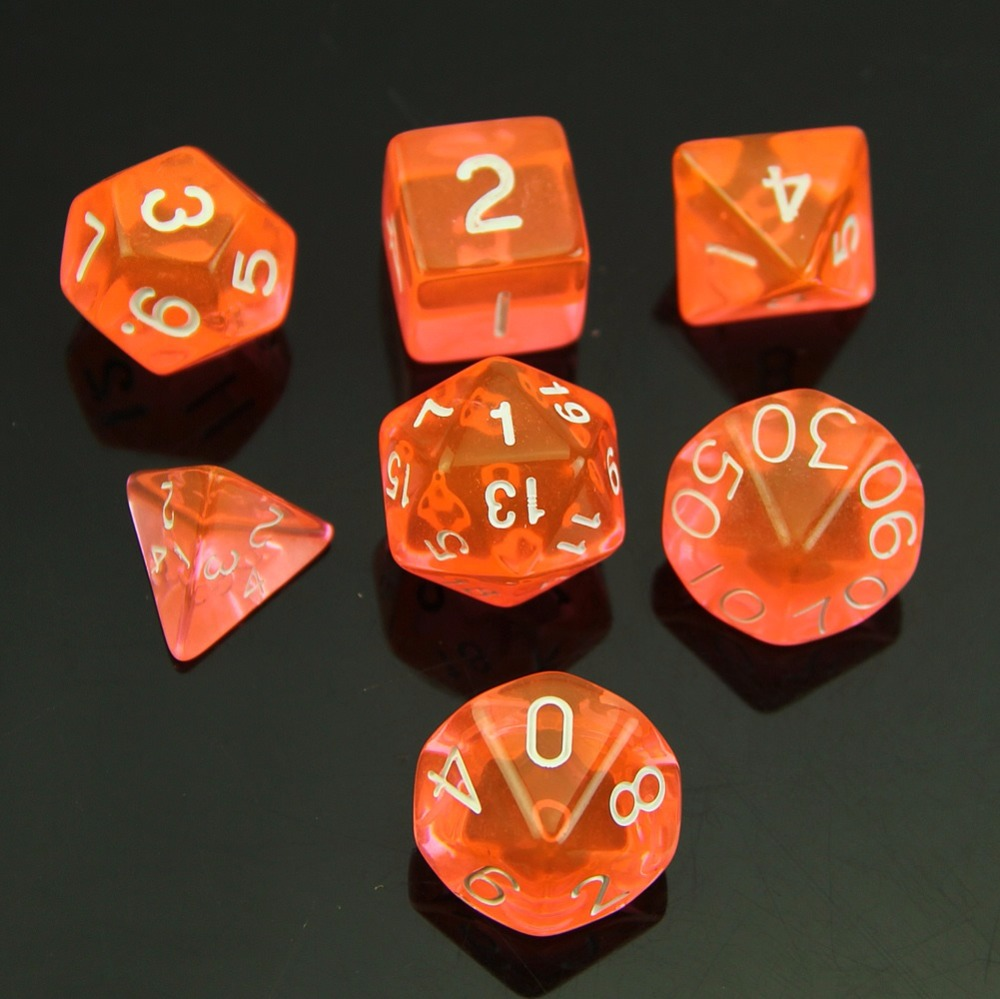 Metal Dice Board Game Owlhouse 7PCS DND Dice Set MTG RPG DND D4 D6 D8 D10 D10 D12 D20