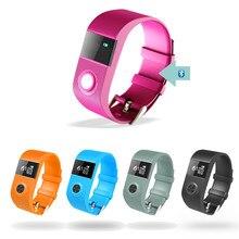 Модные TW64P Bluetooth Smart Браслет IP67 Водонепроницаемый Шагомер сна Фитнес браслет сердечного ритма Мониторы сигнализации SmartBand
