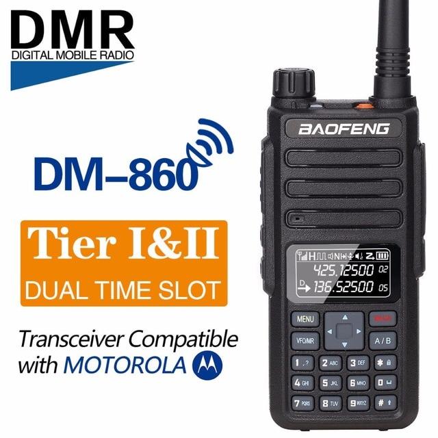 Baofeng DM 860 Dual Band Dual Time Slot DMR Digital/Analog 2Way Radio 136 174/400 470MHz 1024 Channels Ham Walkie Talkie DM 1801