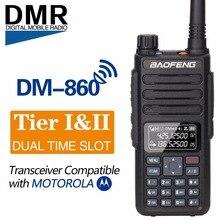 Baofeng DM 860 Dual Band çift zaman dilimi DMR dijital/Analog 2Way radyo 136 174/400 470MHz 1024 kanal jambon Walkie Talkie DM 1801
