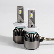 1 Conjunto H1 H4 H7 H11 9005 9006 9012 60 W 6000LM 5D Chips de LED Kits de Conversão Do Farol Super Slim VIRAR Tudo-em-um Branco Puro 6000 K