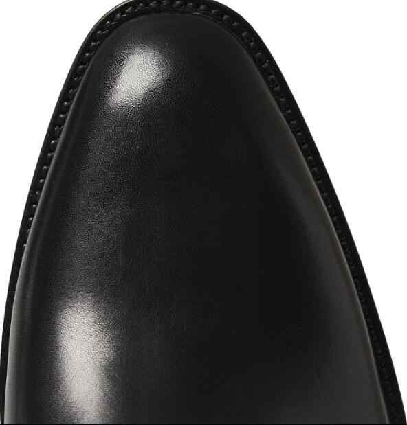 2019 FR. LANCELOT แบรนด์หรูออกแบบสีดำหนังวัวขนสัตว์ Warm ฤดูหนาวผู้ชายรองเท้าบูทเชลซีรองเท้าผู้ชาย