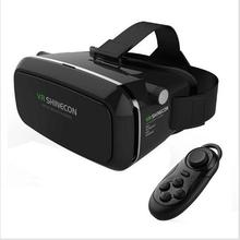 2016 VR Shinecon Virtual Reality Headset 3D Glasses Google Cardboard DVD Movies For iphone Samsung 4.0-6.0 Inch Smartphone