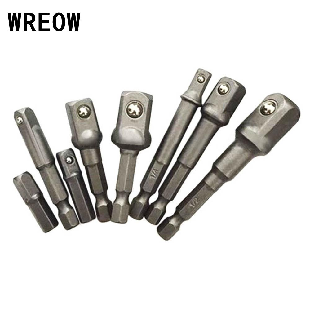 1 Set Hex Shank Socket Adapter Drill Bit 1//4 3//8 1//2 For Power Screwdriver Tool