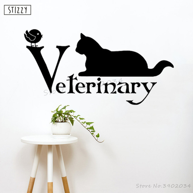 stizzy wall decal animal veterinary grooming salon wall sticker cat