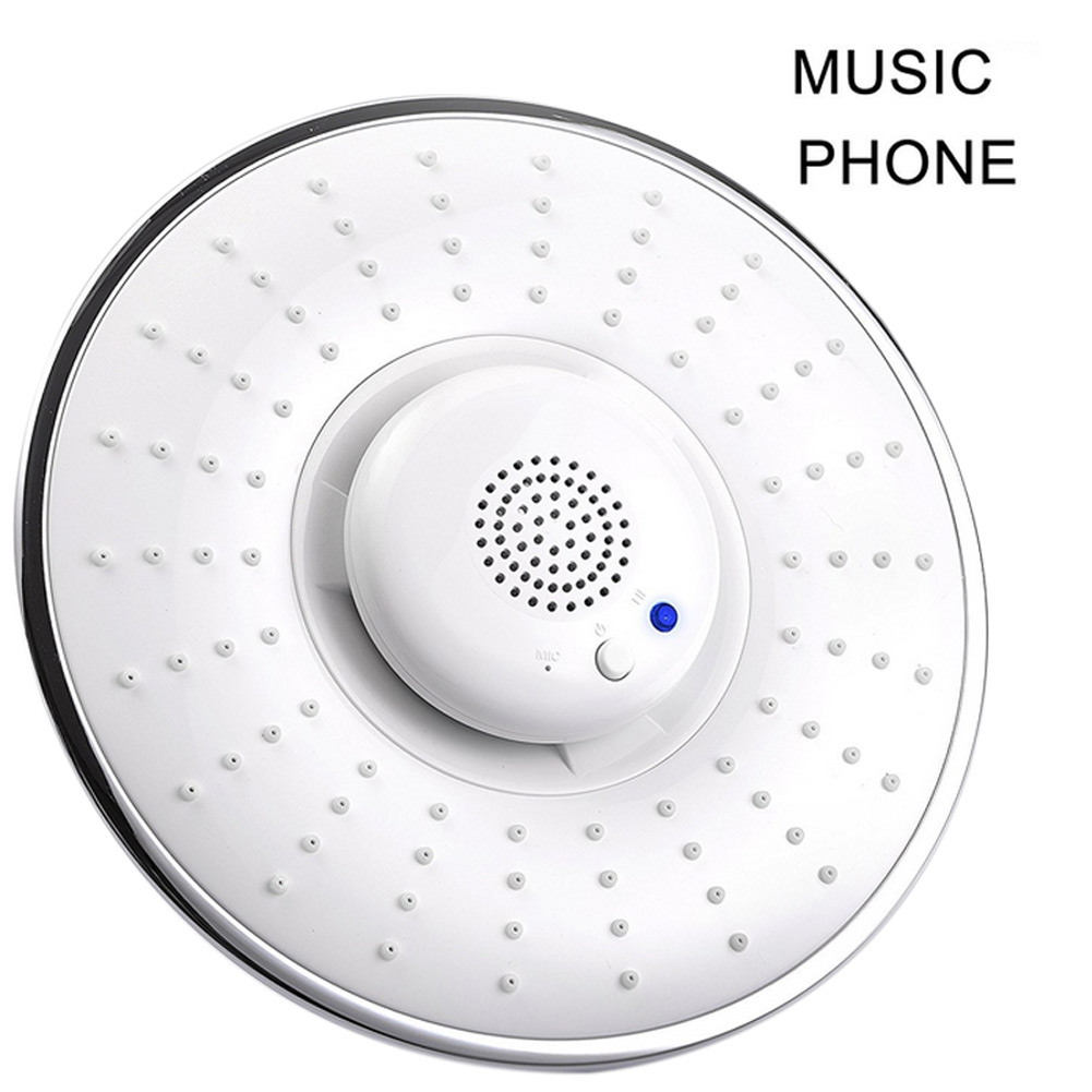 Bluetooth Wireless Musical Jet Rain Showerhead Waterproof Speaker Hand-free Phone Calls E2S