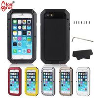 Luxury Shockproof Waterproof Hard Case For Iphone 4 4S 5 5c 5s SE 6 6S Plus