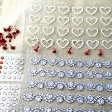 Микс кристалл сердце жемчуг наклейка+ Брэд расцвет границы Скрапбукинг Бумага Ремесло Фотоальбом Свадьба валентинки карты детский подарок