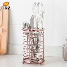 ORZ розовое золото кухонный органайзер для хранения палочек для еды коробка Посуда держатель Контейнер для хранения металла чехол Ванная Комната Корзина для мелочей