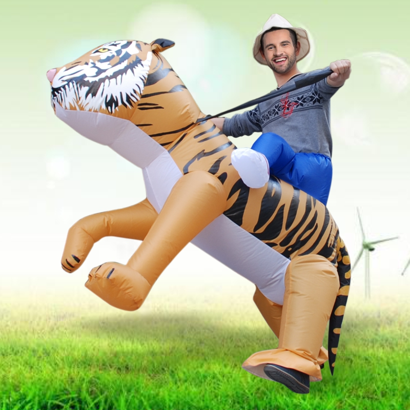 halloween costume for women inflatable tiger costume adult halloween cosplay animal rider lion safari zoo - Tiger For Halloween