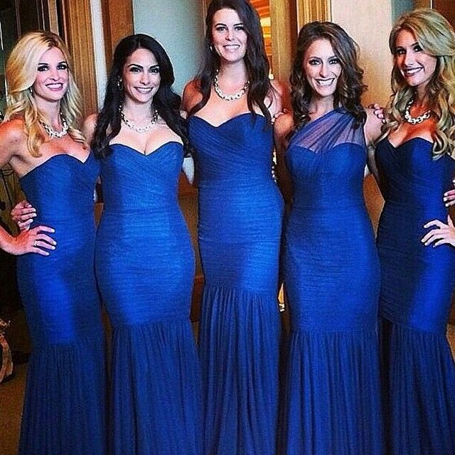 9306a4c6b45 Just Sold Sweetheart Style Sexy Mermaid Royal Blue Bridesmaid Dresses  Elegant Part Prom Gown Cheap Free