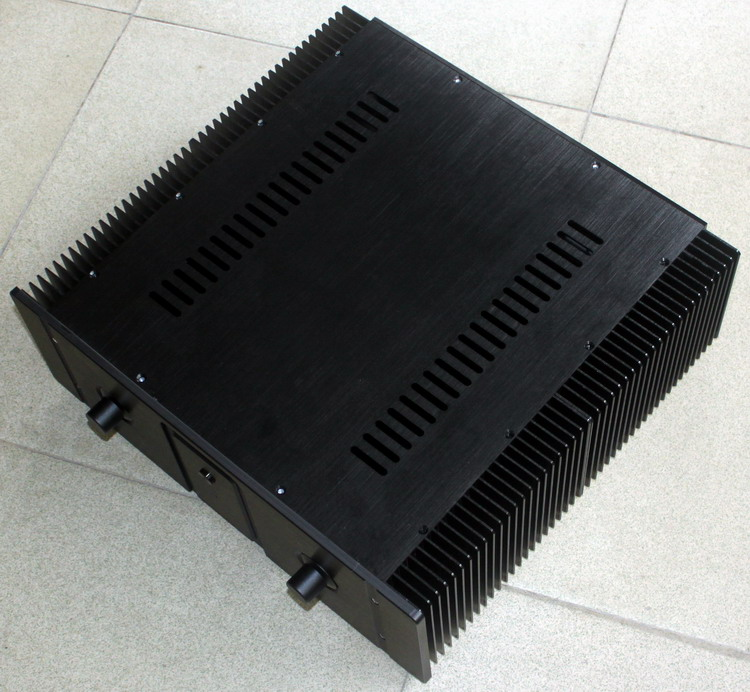 case 440*150*410mm WA20 black Full aluminum amplifier chassis / Class A amplifier/Pure After amp/AMP Enclosure/case/DIY box shengya a 221 high level class a pure combination of tubes and gallbladder full balanced amp hifi amplifier hybrid amplifier