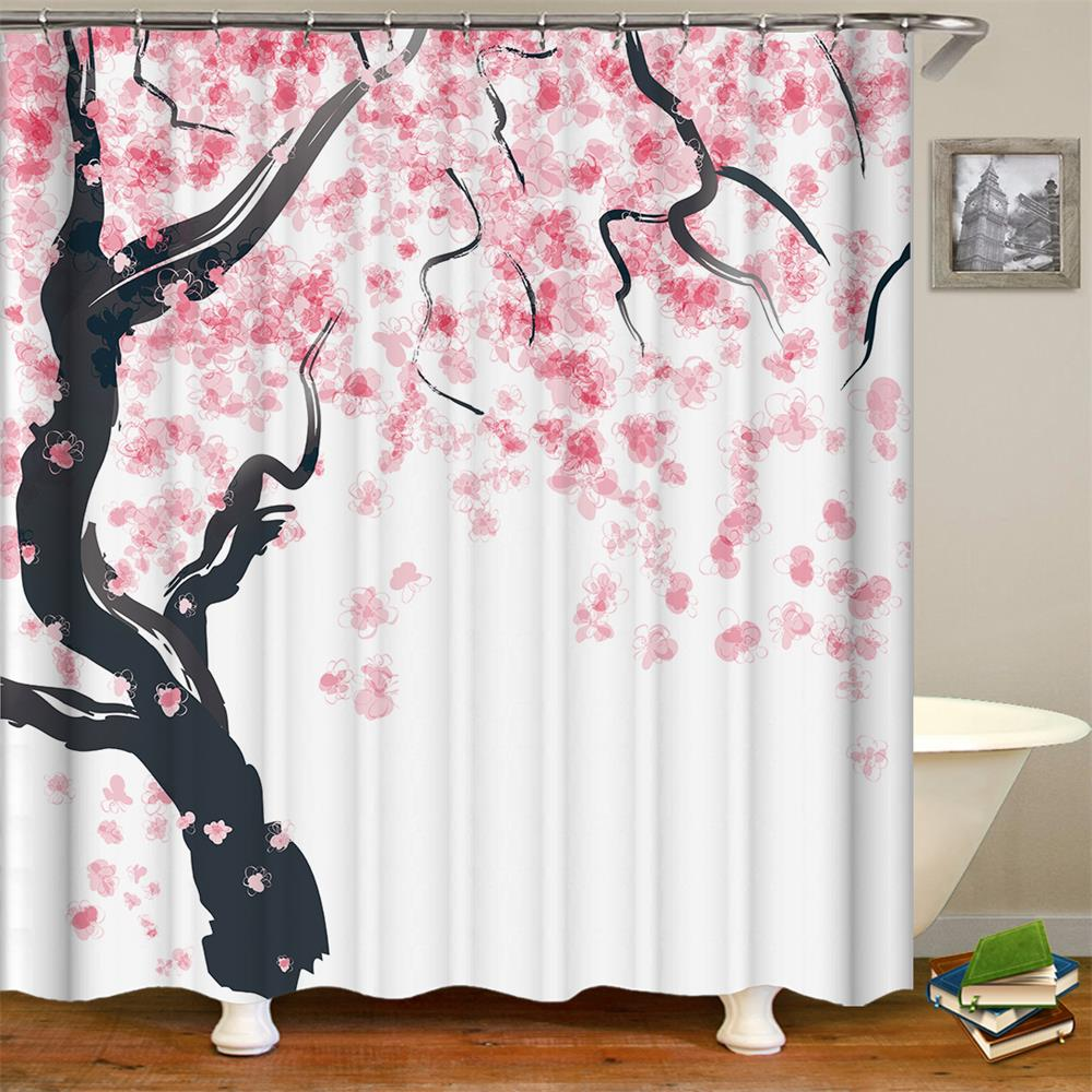 Cherry Blossom Shower Curtain Decor Season Pink Flower