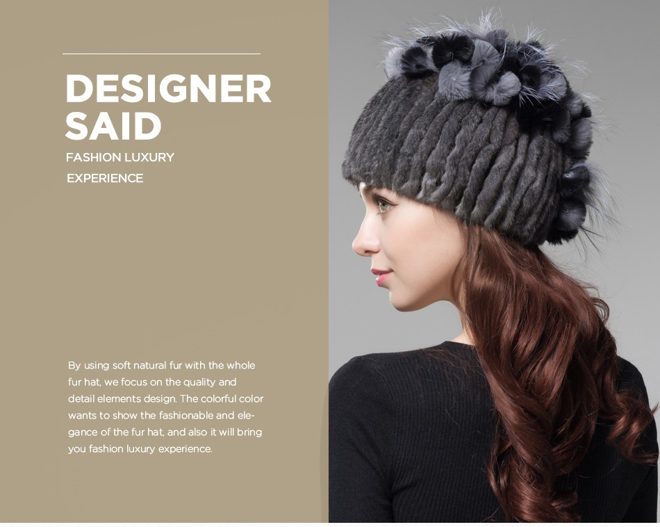 mink fur hats female winter PCM016 (2)