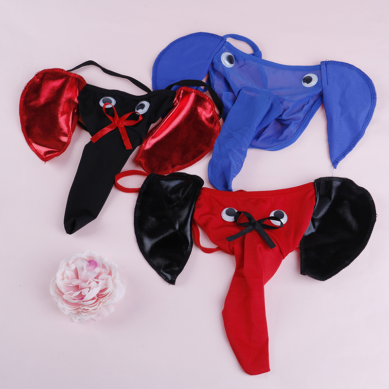 2019NEW Men's Sexy G-strings Thongs Elephant Bulge Pouch Men Elastic T Back Erotic Lingerie Underwear Male Bulge Pouch Thong