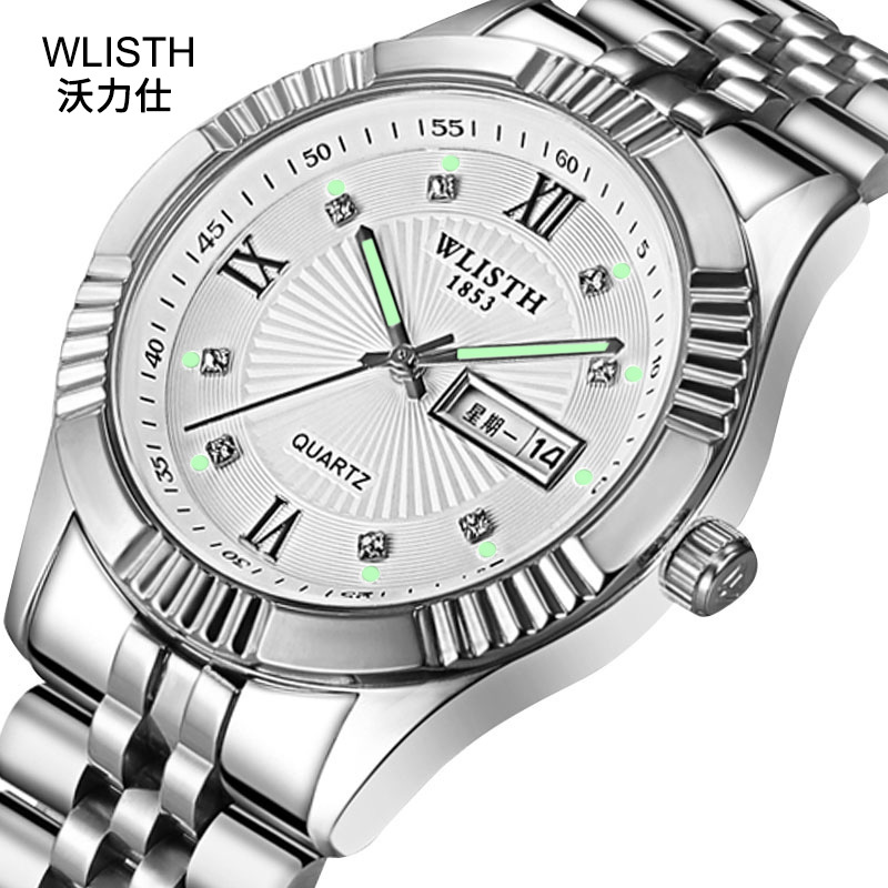2019 Fashion WLISTH Top Brand Quartz Watches Men Top Luxury Wrist Watch For Lady Full Stainless Steel Business Relogio Masculino