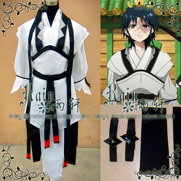 Маги: Лабиринт магии hakuryuu ren Косплэй костюм Хэллоуин равномерное наряд на заказ