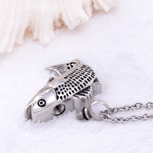 Steel Fish Urn Necklace