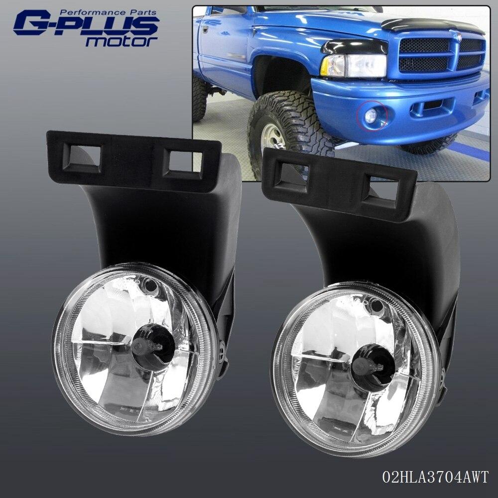 For 1994 - 2001 Dodge RAM 1500 2500 3500 Clear Front Bumper Fog Light Lamps
